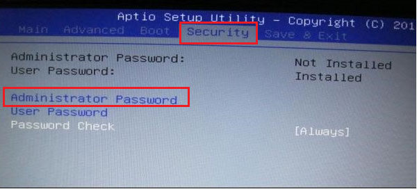 security password